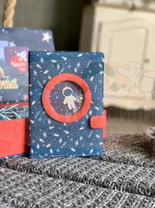 """Подарочный набор малышу """"Космос"""" (1 коробочка, мамин блокнот, игрушка)"""