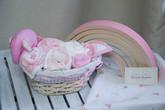 """Подарочная корзина на выписку """"Розовый слон"""""""