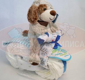 Мотоцикл из памперсов для мальчика