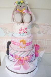 Торт из памперсов для девочек Виола
