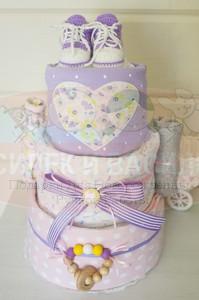 Торт из памперсов для девочки Анюта