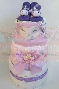 Торт из памперсов Эмилия