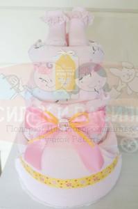 Торт из памперсов Кристиночка