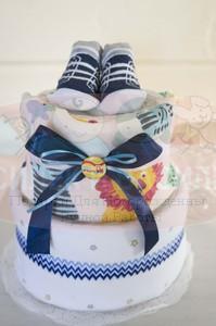 Торт из памперсов Лёва