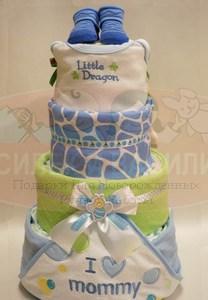 "Торт из памперсов ""Little dragon"""