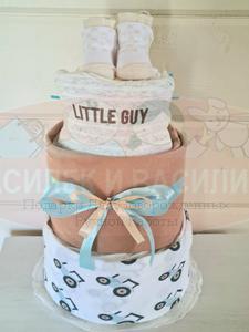 Торт из памперсов Little guy