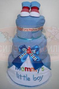 "Торт из памперсов ""Mommy's little boy"""