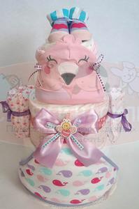 """Торт из памперсов """"Сердечный подарок"""""""